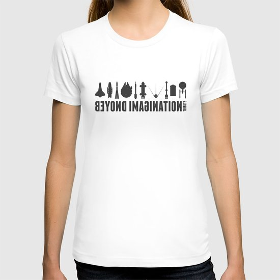 Beyond imagination: Discovery One postage stamp T-shirt