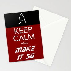 Keep Calm and Make It So Stationery Cards