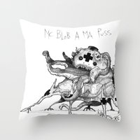 Mc Blob A Ma Puss Throw Pillow