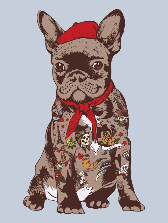 French Bulldog Tattoo Art Print