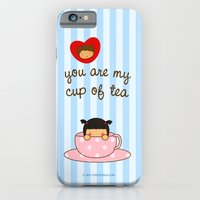 iPhone & iPod Case featuring You're my cup of tea by Pigtails