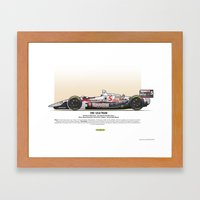 #5 LOLA - 1993 - T9300 - Mansell Framed Art Print