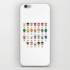 Superhero Alphabet iPhone & iPod Skin