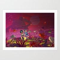 Matilda and Bouru - Alien Planet Art Print