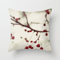 dark berries Throw Pillow