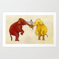 My Elephants Art Print