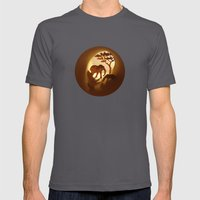 Africa (Afrique) Mens Fitted Tee Asphalt SMALL