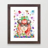 Miss Frog Framed Art Print