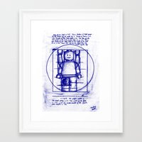 LEGO Vitruvian (Mini)-Figure  Framed Art Print