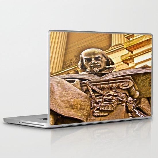 Shakespeare Hits the Books Laptop & iPad Skin
