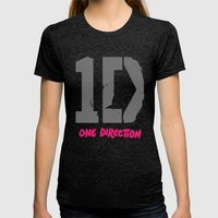 1 Direction Womens Fitted Tee Tri-Black SMALL