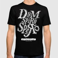 Dum Spiro Spero Mens Fitted Tee Black SMALL