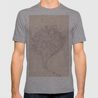 CASAS Mens Fitted Tee Athletic Grey SMALL