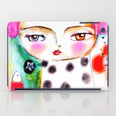 Dream a bit...every day! pink hair girl fish flowers iPad Case