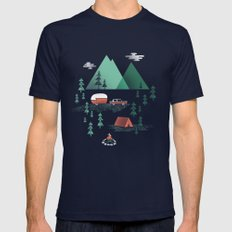 Pitch a Tent Mens Fitted Tee Navy SMALL