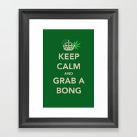Keep Calm And Grab A Bon… Framed Art Print