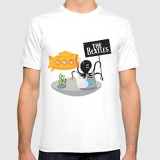 Yellow Submarine SMALL White Mens Fitted Tee