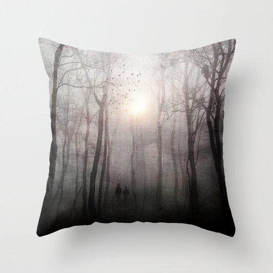 Eternal walk Throw Pillow
