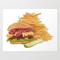 Dinner Time Art Print