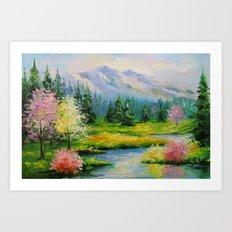 Spring brook Art Print
