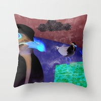 Sea Gull Throw Pillow
