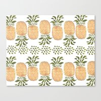 Pineapples Canvas Print