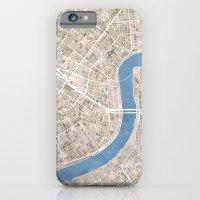 New Orleans Cobblestone Watercolor Map iPhone 6 Slim Case