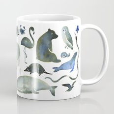 Animals in Black (and blue) Mug