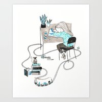 Art Print featuring Work & Play by Diana Toledano