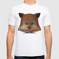 A Happy Little Fox Mens Fitted Tee Ash Grey SMALL