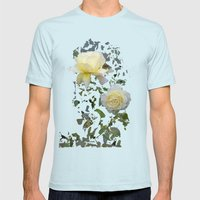 Roses On A String Mens Fitted Tee Light Blue SMALL