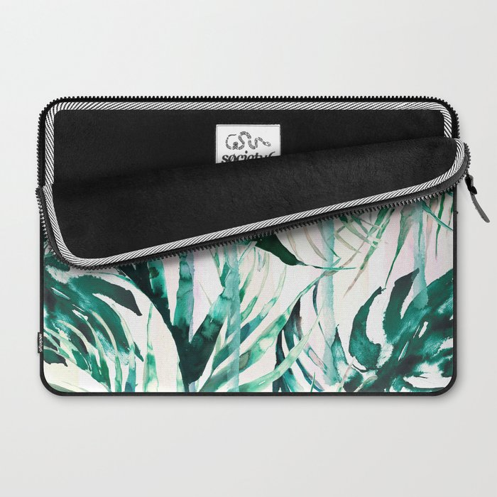 Green Tropical Paradise Laptop Sleeve By Nikkistrange