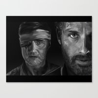 Rick And The Governor Canvas Print