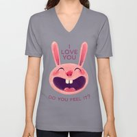 Bunny with love Unisex V-Neck