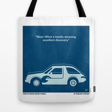 No211 My Waynes World minimal movie poster Tote Bag