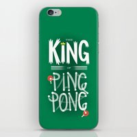 The King of Ping Pong iPhone & iPod Skin