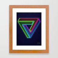 TRIFORCE #3 Impossible T… Framed Art Print