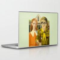 moonrise kingdom Laptop & iPad Skins featuring Moonrise Kingdom Gothic by Xenia Pirovskikh