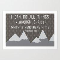 I CAN // Philippians 4:1… Art Print