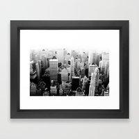 Ghost City Framed Art Print