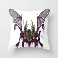 Gaping Dragon (Dark Soul… Throw Pillow