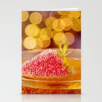 Strawberries And Champag… Stationery Cards