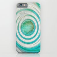 iPhone Cases featuring BLUE VORTEX by Catspaws