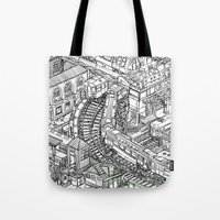 The Town of Train 2 Tote Bag