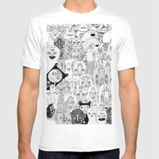 School daze Mens Fitted Tee SMALL White