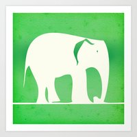 Sweet Elephant Art Print