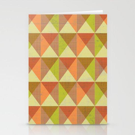 Triangle Diamond Grid Stationery Card