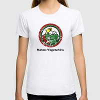 Hates: Vegetables (Battle Damage) Womens Fitted Tee Ash Grey SMALL