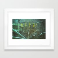 MEOW! Framed Art Print