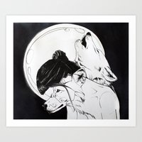 Wolf Familiar (werewolf) Art Print